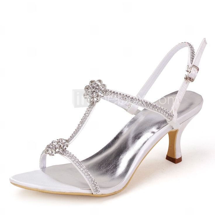 женская обувь с открытым носком шпилька атласные сандалии с Rhinestone Свадебная обувь другие цвета - USD $ 39.99