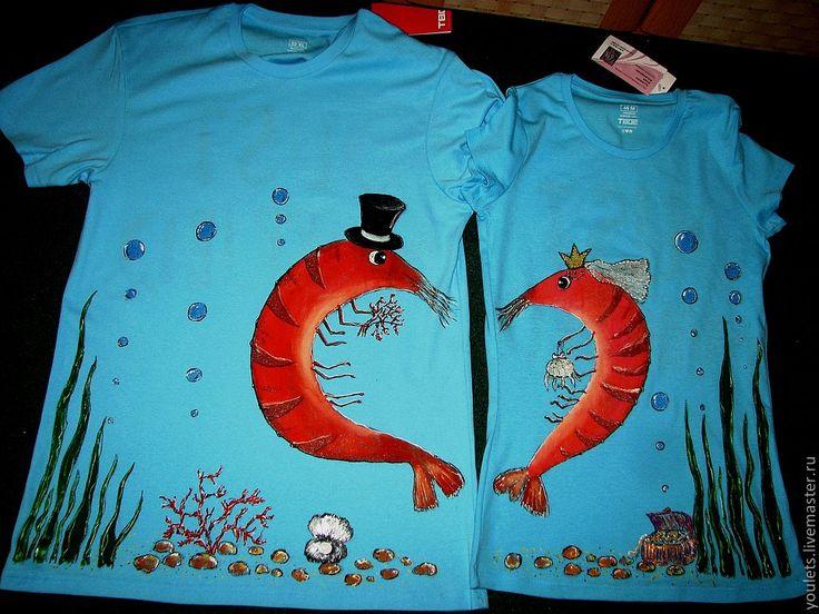 """Купить Футболки для пары"""" Свадебные креветки!"""" - свадьба, подарок на свадьбу, парные футболки, свадьба 2012"""