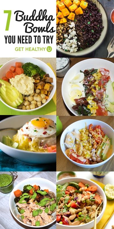 Spice up healthy eating and try these 7 delicious Budda Bowl protein packed recipes for breakfast, lunch, and dinner!