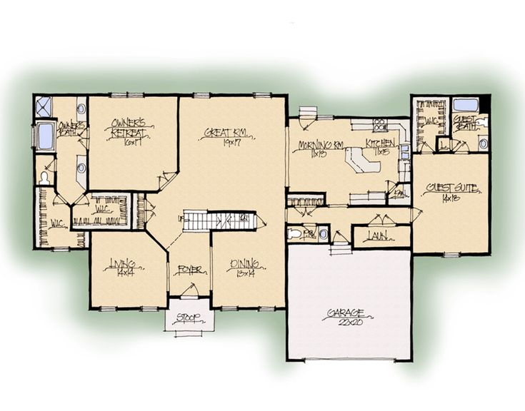 Schumacher homes floorplans ridgewood dual master for Custom home builder floor plans