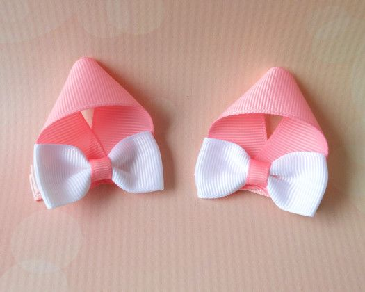 Bunny Ear Hair Clips by Korker Krazy