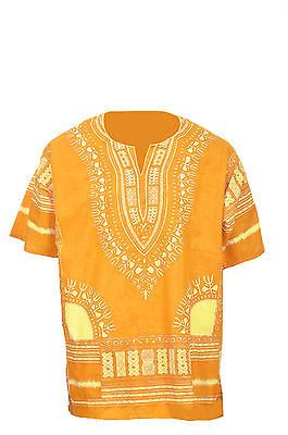 ea3bb485990 Africa 155241  Plus Size Orange Yellow African Unisex Dashiki Shirt Dp3729  4X