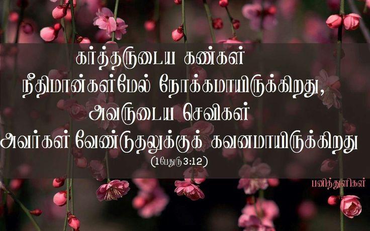 Tamil bible verse, flowers