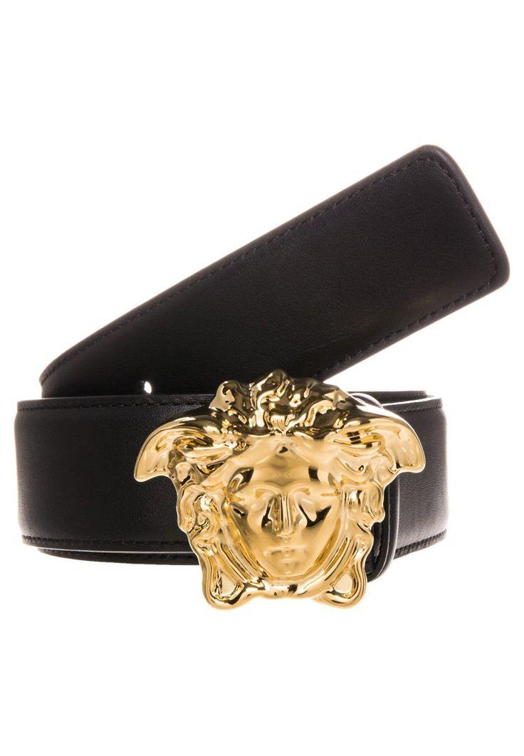 Versace PALAZZO Pasek nero/oro caldo lucido 1,089.00zł Materiał: 100% skóra #moda #fashion #men #mężczyzna #versace #palazzo #pasek #męski #nero #oro #caldo #lucido #czarny #black #skóra #skórzany