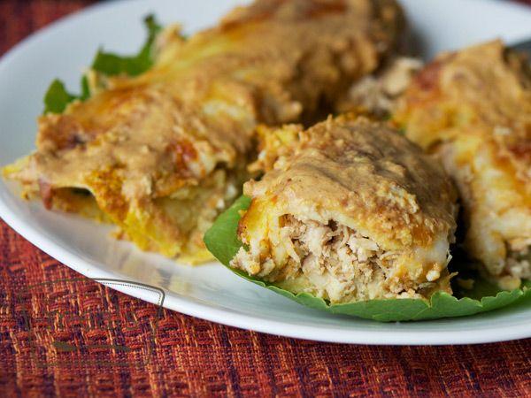 Chicken Enchiladas with Pumpkin Cream Sauce | Once A Month Meals | Freezer Cooking | OAMC