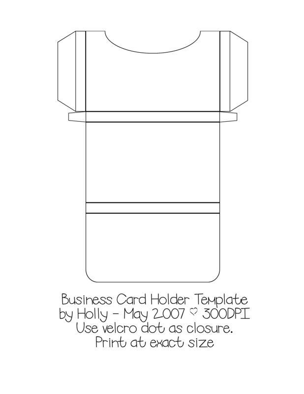 Business Card Holder Template Paper Crafts Pinterest