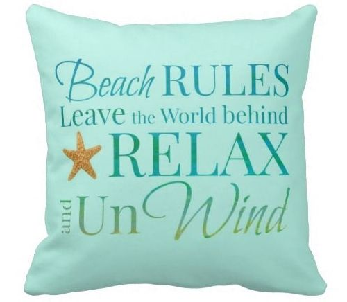 Beach Rules Pillow by Beach Bliss Living: http://beachblissliving.com/beach-rules-signs-pillows-prints/