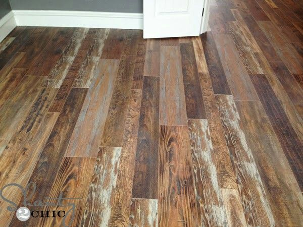 Authentic flooring used by the girls. Looks like rustic barn board floors  but they are brand new laminate! - 100+ Ideas To Try About SHIPLAP Rustic Barn, Textured Walls And