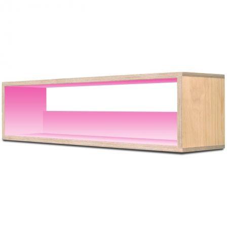 I-CUBE CD-70 Birch Wood & Soft Pink CD Storage Rack