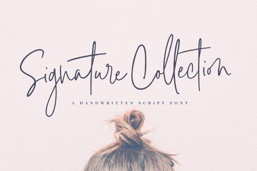 Signature Collection Script Font by Nicky Laatz >> Go to...