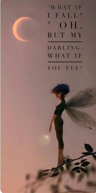 you may fall.. Or fly.. So take the risk.