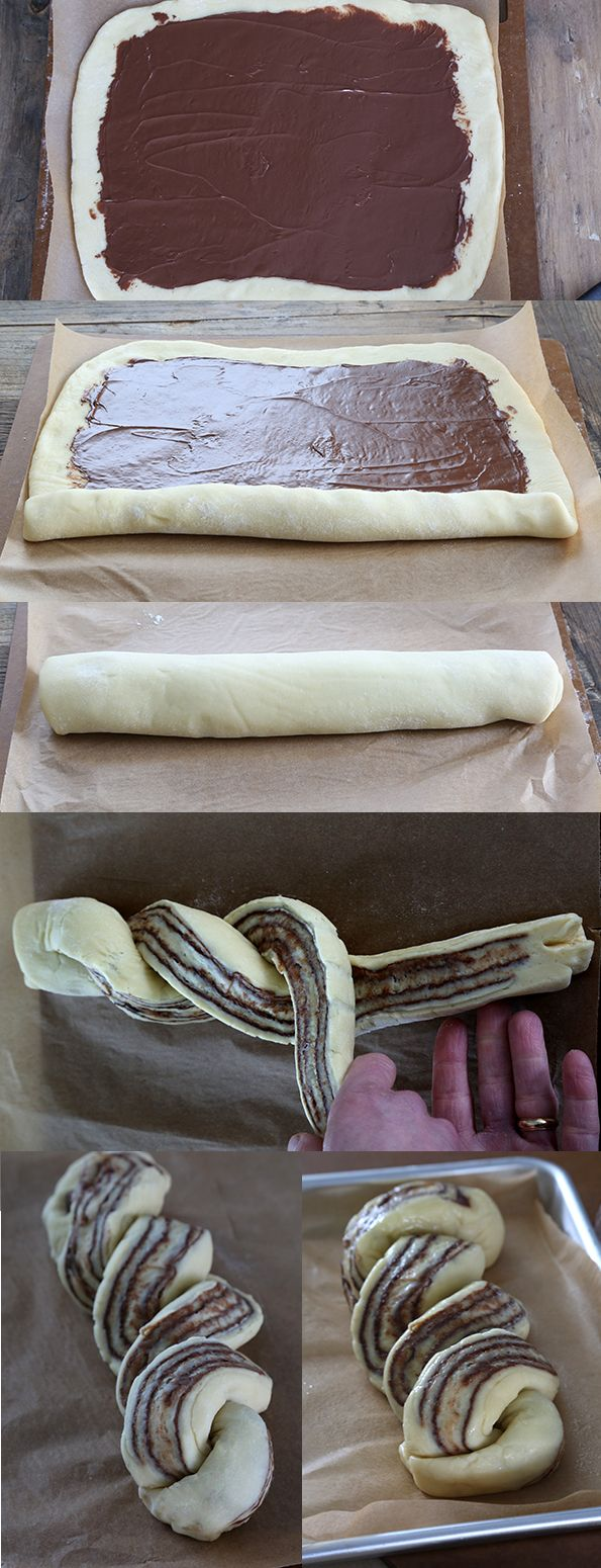 How to make Gluten Free Braided Nutella Bread: step by step.
