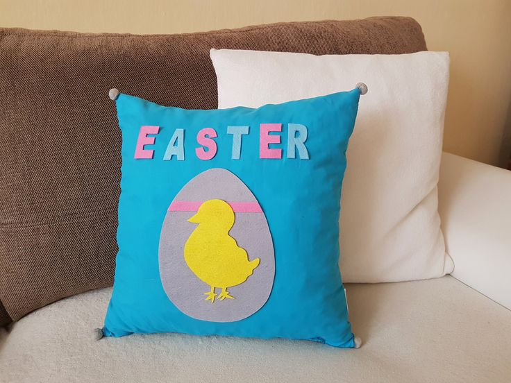 Easter Pillow  Tutorial and more decoration in video: https://www.youtube.com/watch?v=ts6wr3u2VQE&t=26s  #spring #Easter #decor #decoration #diy #craft #holiday #pillow