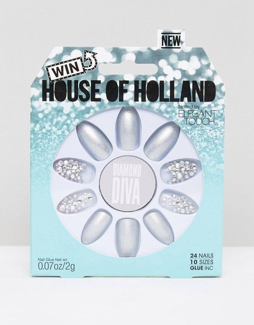 House of Holland Luxe by Elegant Touch - Diamond Diva - Unghie