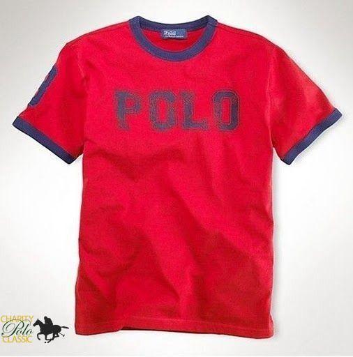 Cheap Mens New Ralph Lauren Short Sleeved Polo Red