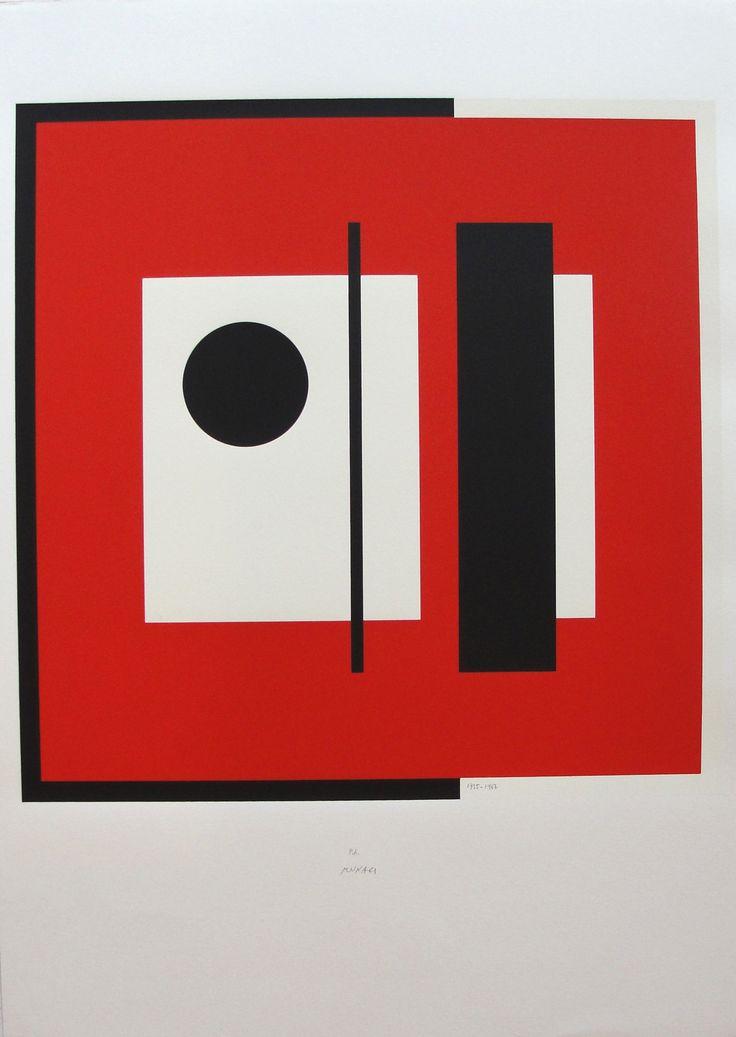 Bruno Munari – Anche la cornice - 1935/1987 (rosso/bianco /nero) cm 70x50 Es.p.a
