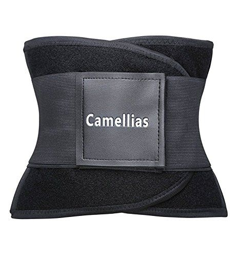 Camellias Women Waist Trainer Belt Body Shaper Belly Wrap - Trimmer Slimmer Compression Band for Weight Loss Workout Fitness at Amazon Women's Clothing store: