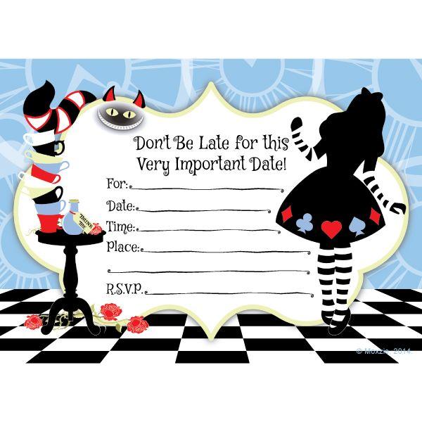 Alice In Wonderland Invitations (8) at Birthday Direct