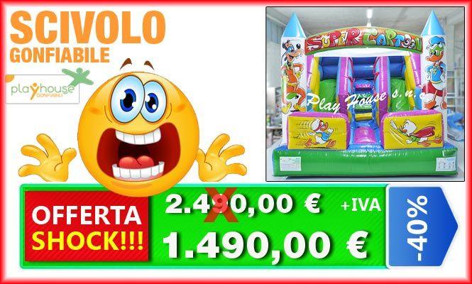 Scivolo in offerta shock 1.490€ http://playhousegonfiabili.it/offerte-shock-giochi-bambini/giochi-gonfiabili-scivolo-gonfiabile-offerta-shock-detail.html