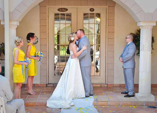 Yellow, yellow, yellow :) Northwest Forest Wedding First Kiss BCL Photography
