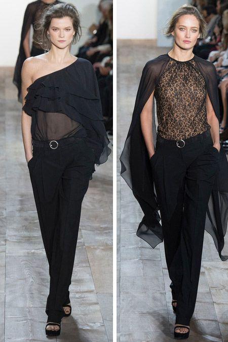 Черные кружевные блузки от Michael Kors FW 2014-2015 #BlousesTrends, #trendsFW2015-2015, #BlousesTrendsFall2014