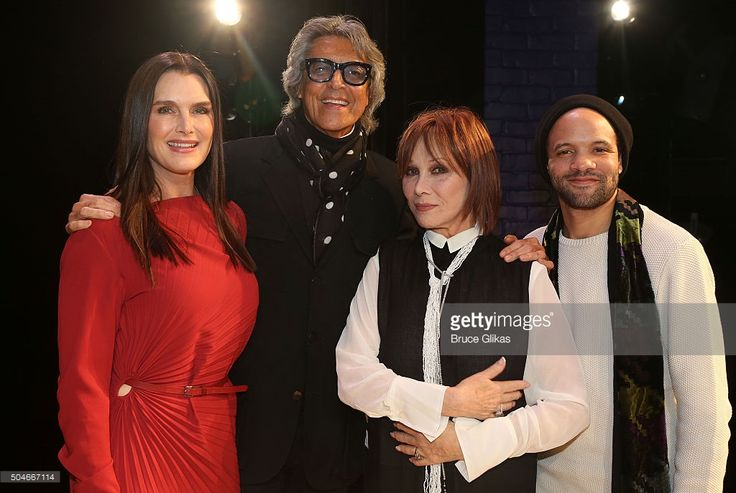 Brooke Shields, Tommy Tune, Michele Lee and Savion Glover pose at the Opening Night for 'Maurice Hines Tappin' Thru Life' at New World Stages on January 11, 2016 in New York City.