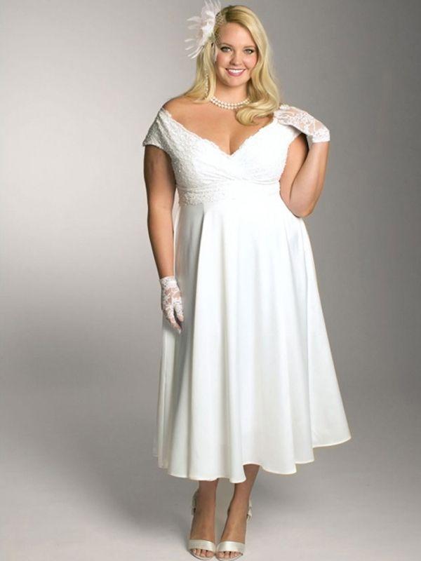 208 best Short Plus Size Wedding Dress images on Pinterest ...