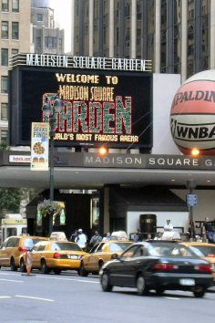 Madison Square Garden is the world's most famous arena.
