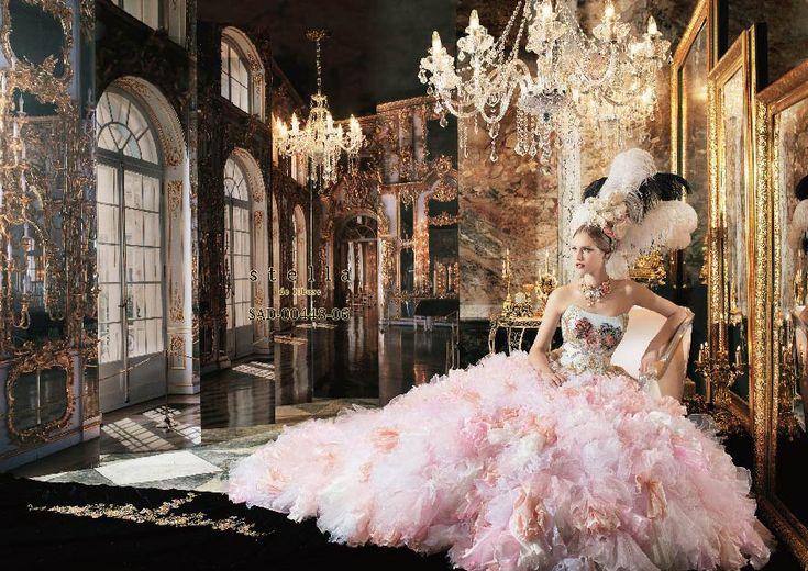 Stella De Libero Colorful Wedding Dress Party Theme