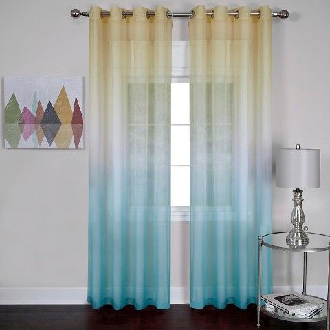 Rainbow Single Grommet Curtain Panel   Blue  52  x 63. 56 best Beautiful Grommet Panels images on Pinterest   Grommet