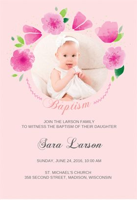 """""""Flower Girl""""  printable invitation template. Customize, add text and photos. Print or download for free!"""