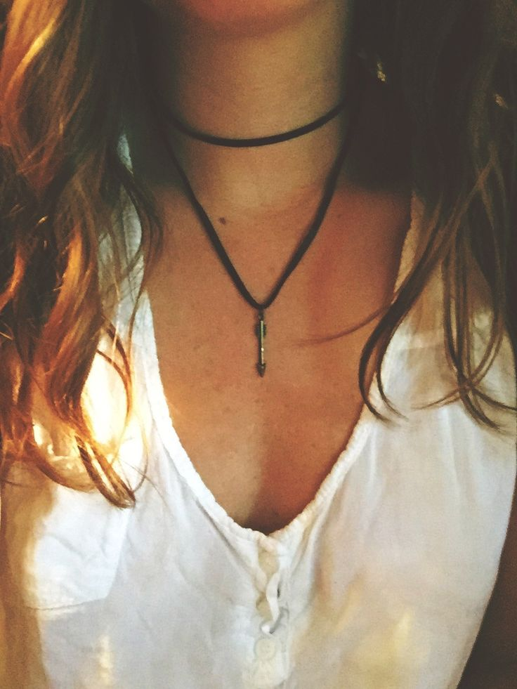 Chocolate Brown Leather Double Wrap Choker Necklace + Arrow Charm by GreenEGGsnCamDesigns on Etsy