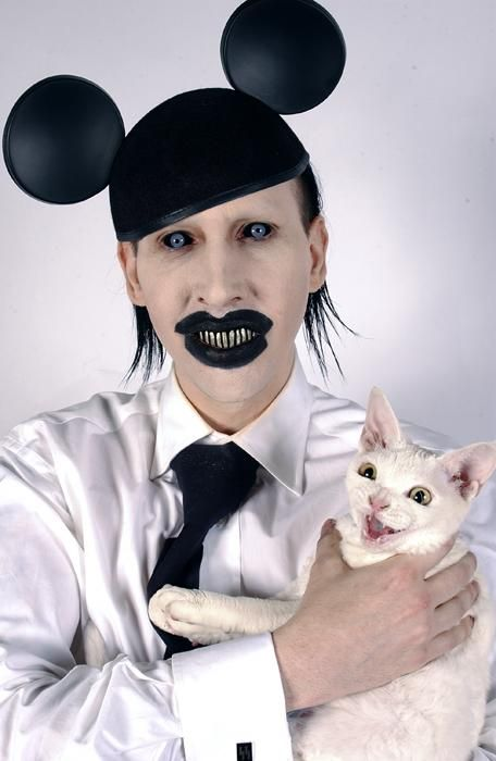 OK, I know this makes me old and out of touch in the eyes of my kids, but marilyn manson mickey mouse?!