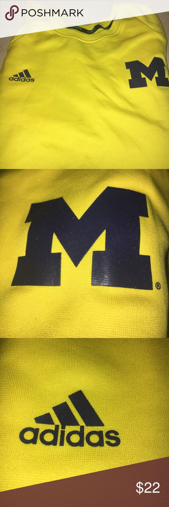 MICHIGAN WOLVERINES BASKETBALL AUTHENTIC XL AUTHENTIC LONG SLEEVE SIDELINE WARM UP. LIKE NEW CONDITION. MAKE AN OFFER. adidas Shirts Tees - Long Sleeve
