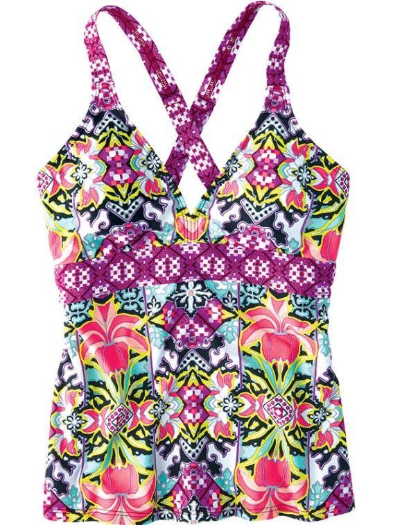 Better Tankini Top - Multi Print                 -                              Tankini Tops                 -                              Swimsuit Tops                 -                              Swim                                           | Title Nine