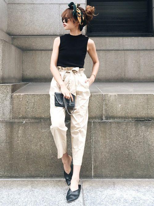 GRLのTシャツ・カットソー「ハイネックテレコノースリーブトップス」を使ったAkaneのコーディネートです。WEARはモデル・俳優・ショップスタッフなどの着こなしをチェックできるファッションコーディネートサイトです。
