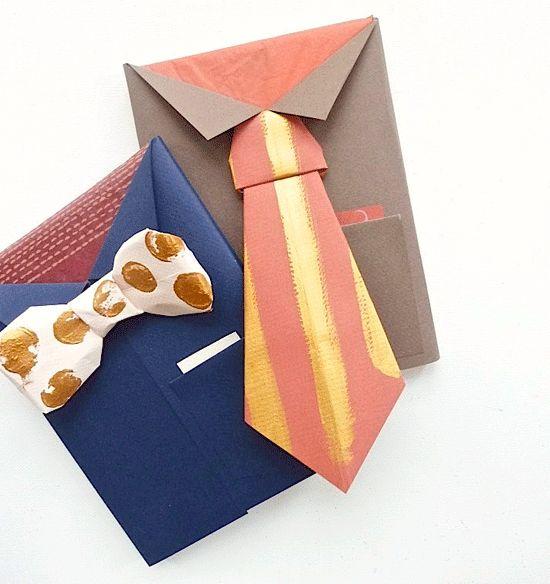 Poppytalk: DIY for Father's Day (Bowtie + Necktie Gift Wrap)