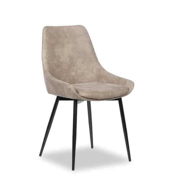 De grijze stoel Mirano is zowel stijlvol als comfortabel. Onmisbaar in de eetkamer!