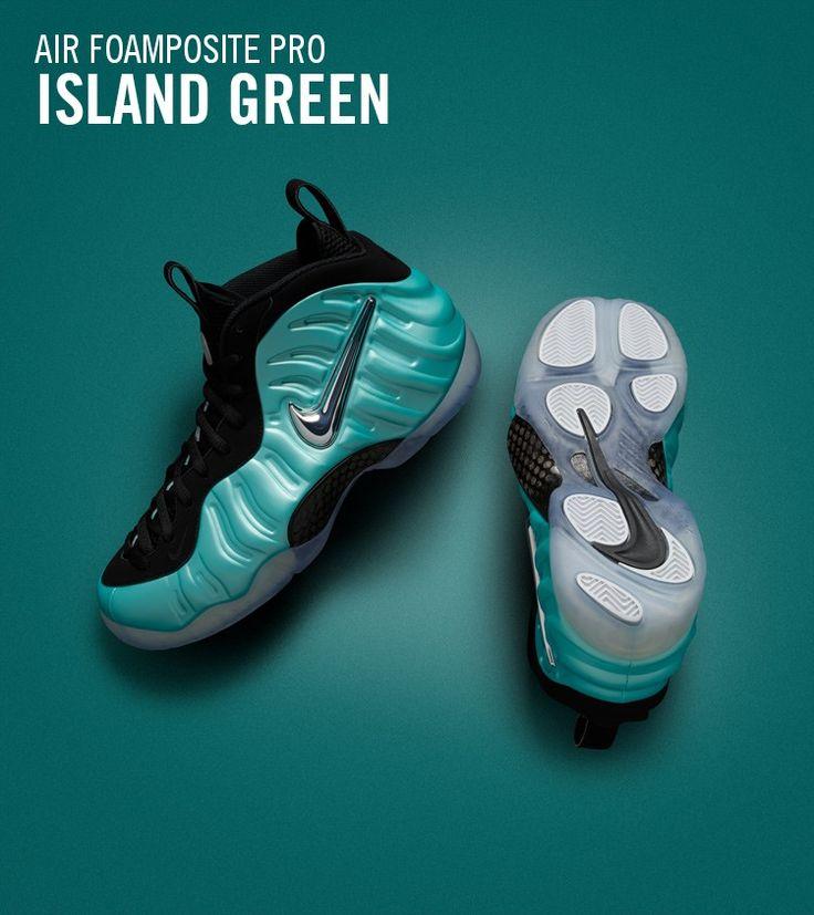 Nike Foamposite Island Green 11.5