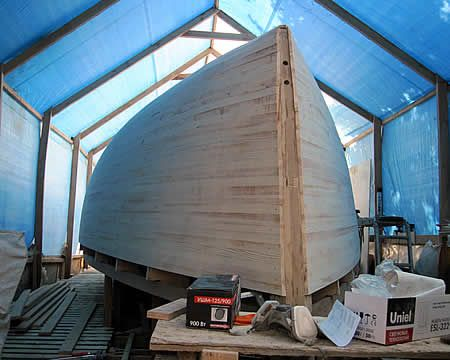 Sailing yacht building.Yacht manufacturers