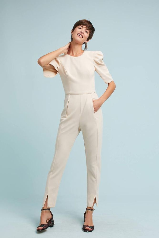 7a0a7c5bf4f New Anthropologie Carter Jumpsuit by Black Halo  390 CREAM Size 2 Now  136   BlackHalo  Jumpsuit