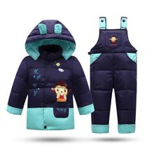 Winter coat for Boys Down Padded Parkas 2016 Christmas Gift for Kids Snow Jacket Baby Girls clothing set(China (Mainland))