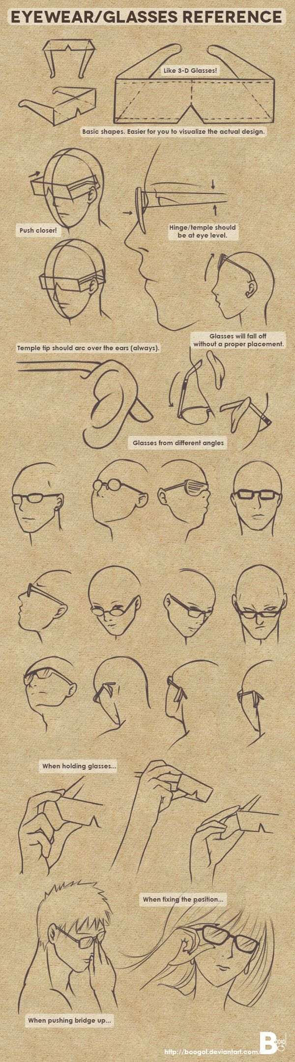 #Reference // #Eye and glasses
