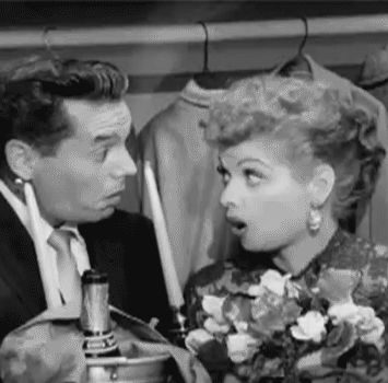 "Lucille Ball and Desi Arnaz on ""I Love Lucy"" (1954)"