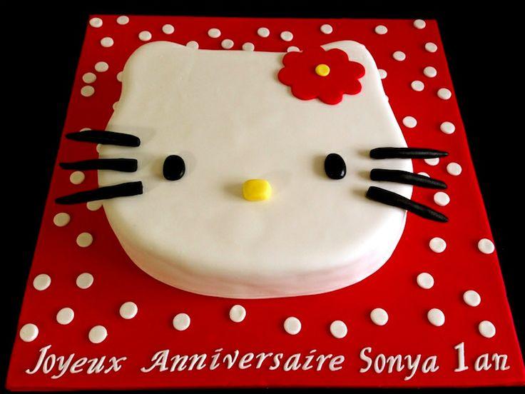 gâteau anniversaire hello kitty                                                                                                                                                                                 Plus