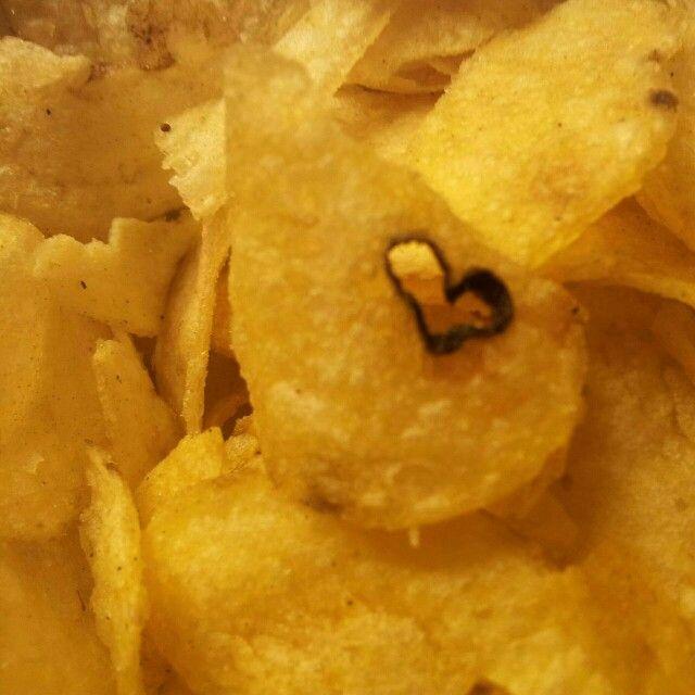 Heart in potato chips