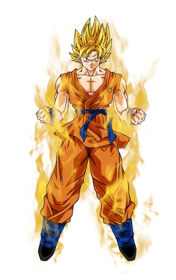 Goku super saiyan aura by BardockSonic on DeviantArt
