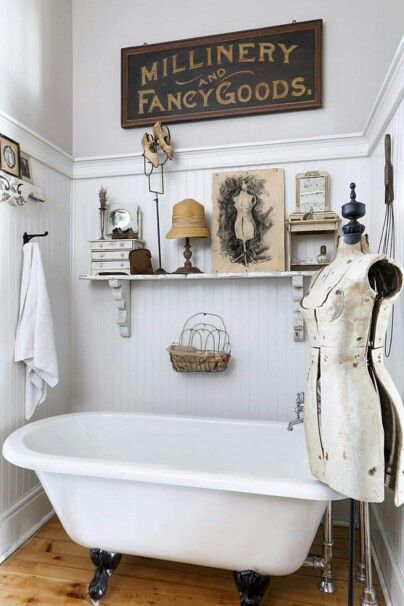 Vintage bath decor my web value for Vintage bathroom accessories