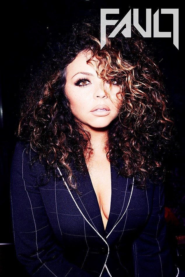 Sultry: Opting for a slightly more conservative look was Jesy Nelson who sported a checked...