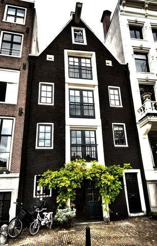 COCOCOZY - Love the black and white home and greenery.